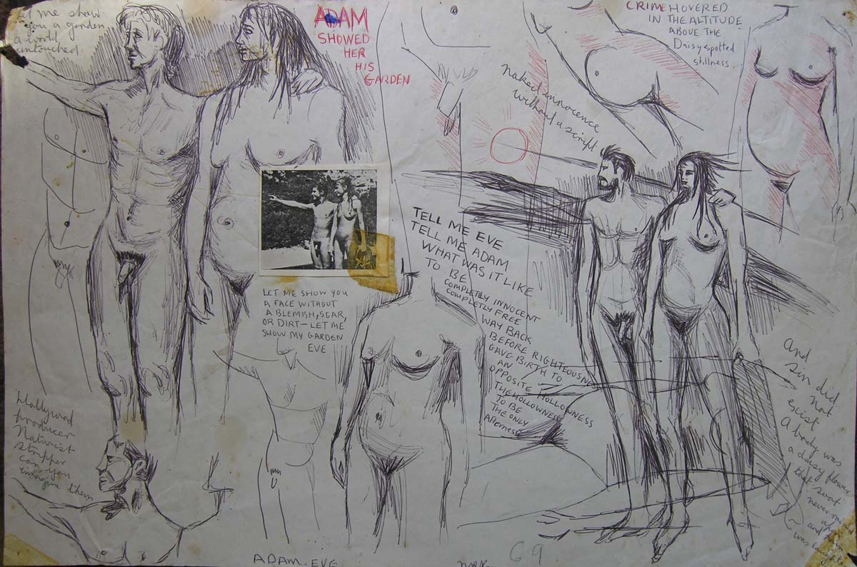 Adam and Eve (working drawing)