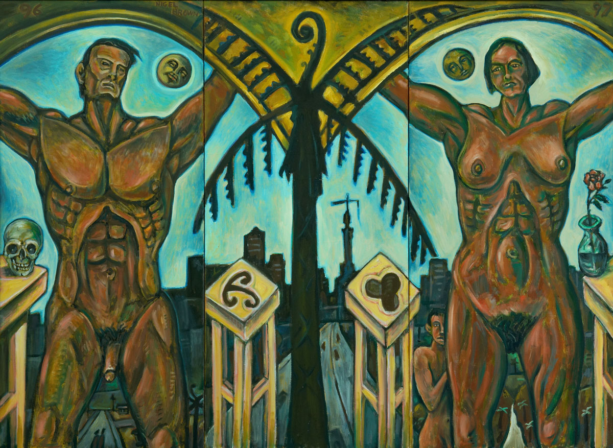 Black Fern Rising Triptych