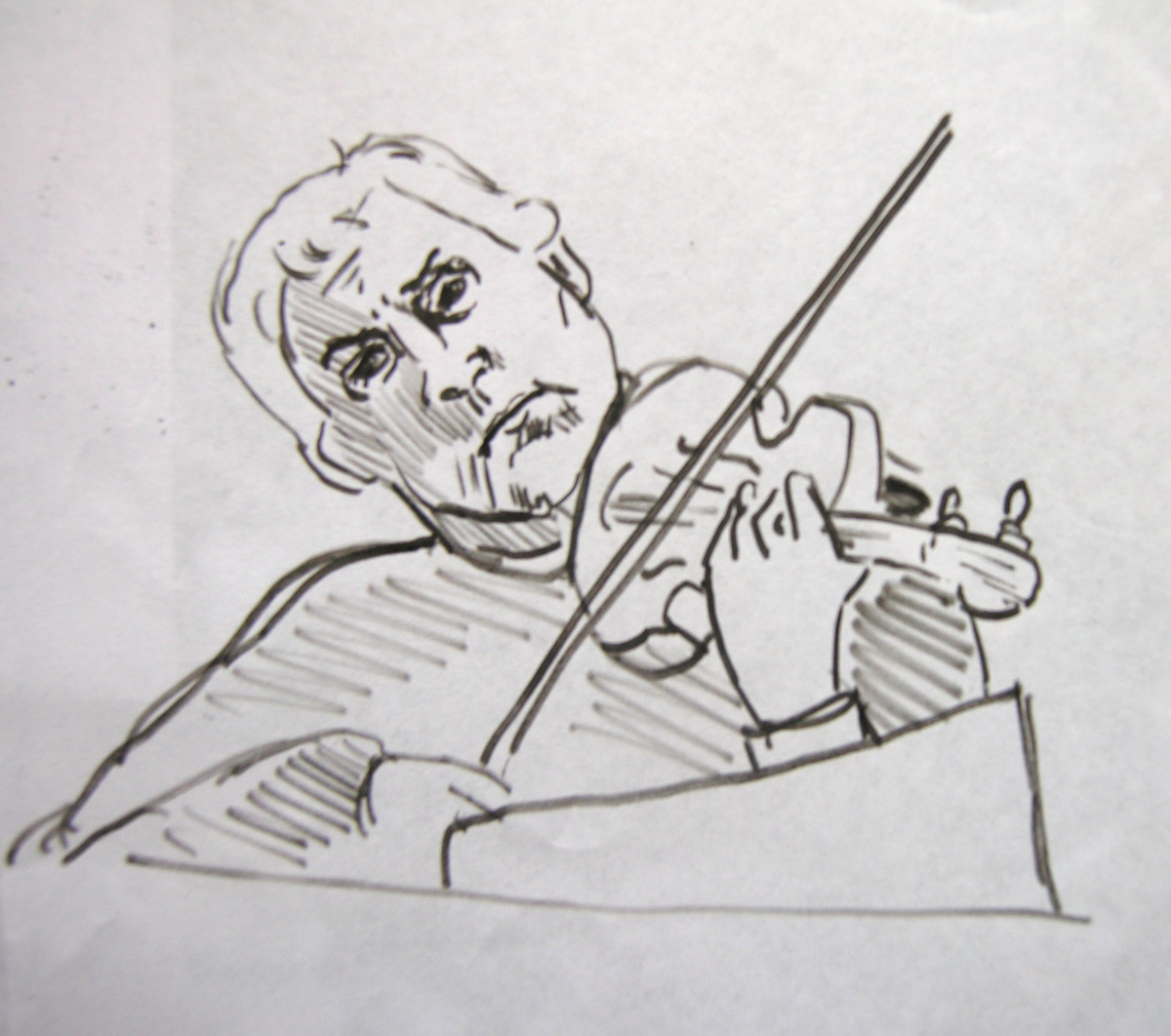 Sketch of Violinist, Haydn's Seven Last Words