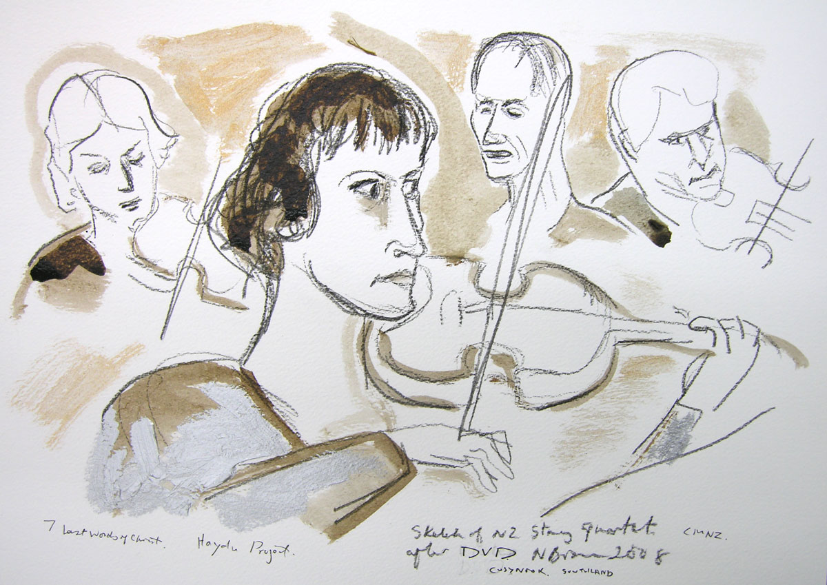 Sketch of NZ String Quartet