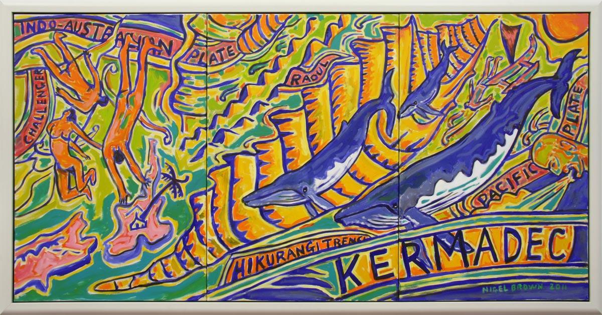 Kermadec Triptych (framed)