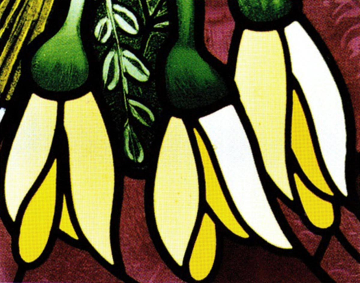 Māori and Pacific Window (Kowhai detail)