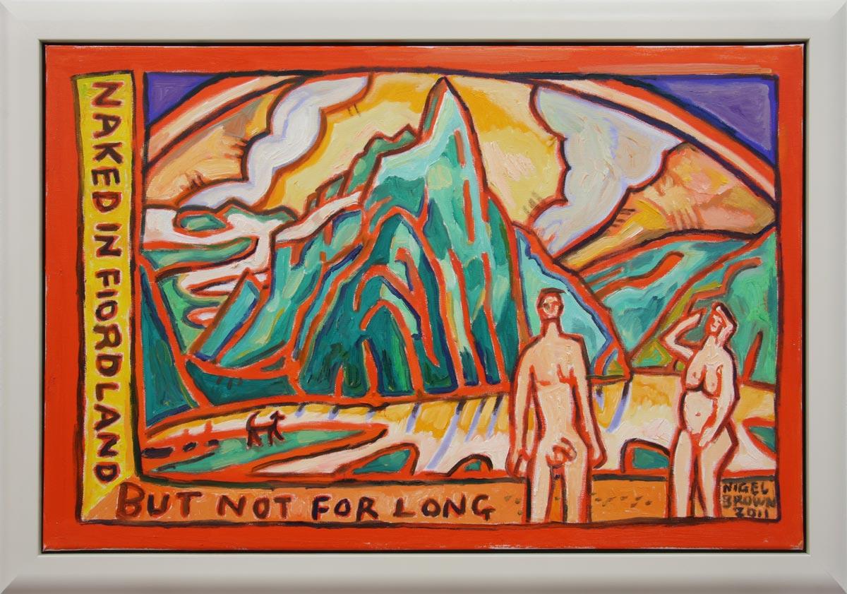 Naked in Fiordland (framed)