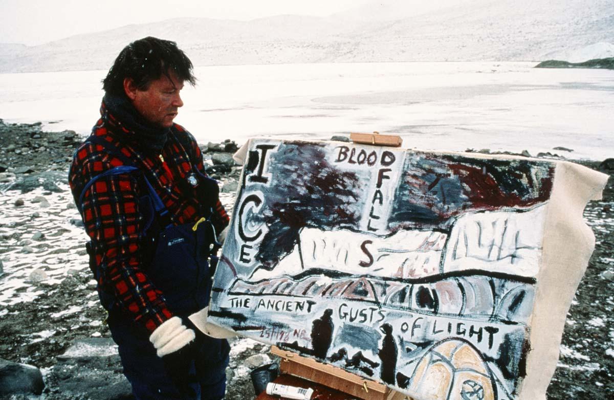Nigel at Blood Falls, Taylor Valley, Antarctica