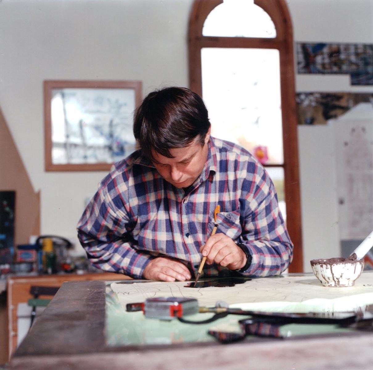 Nigel working on window