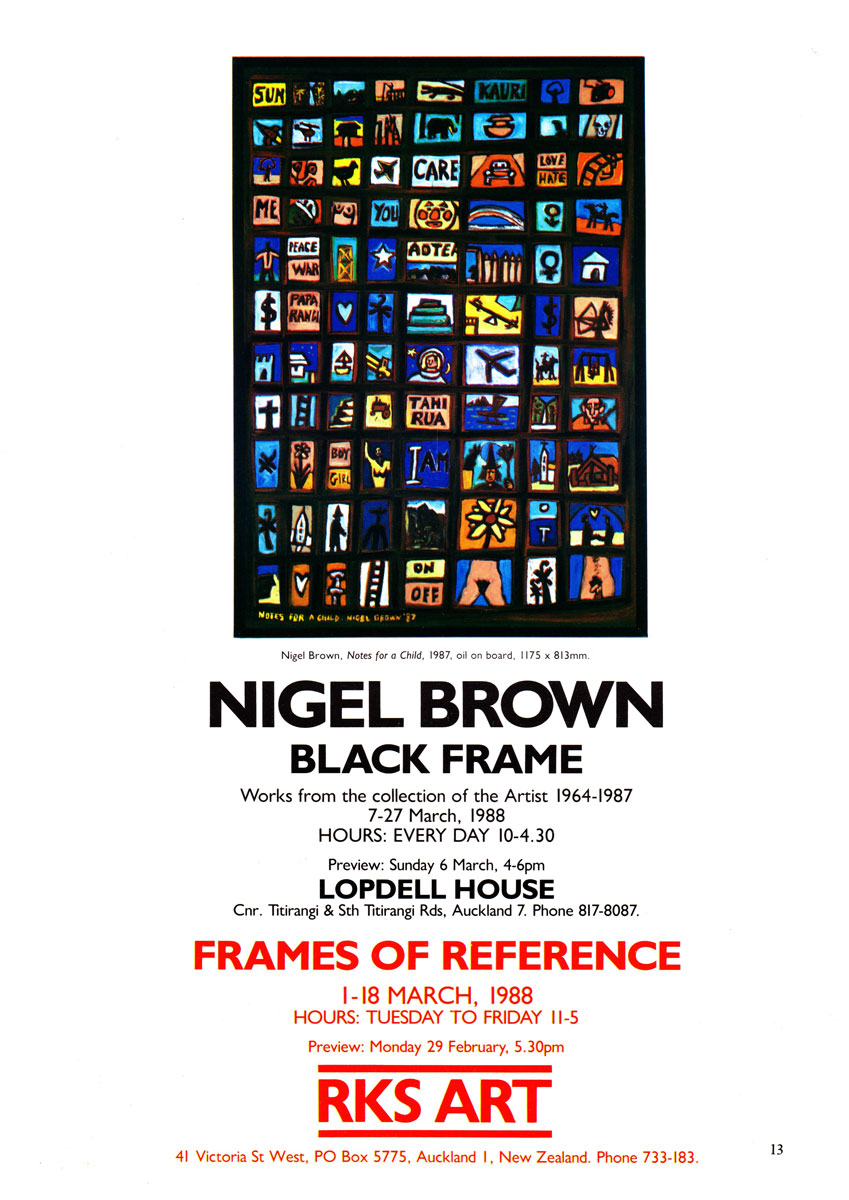 Black Frame (works from the collection of the artist 1964-1987)