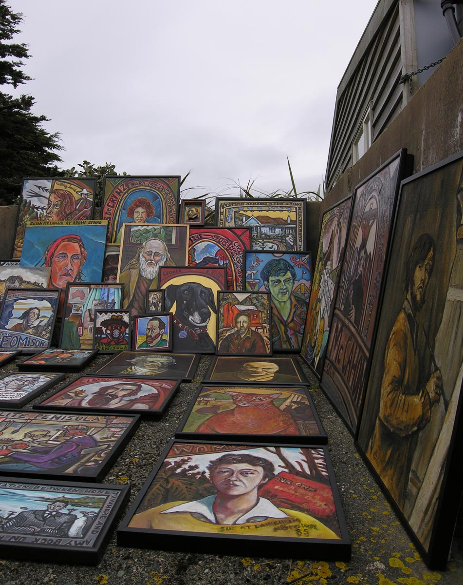 Personages works outside studio