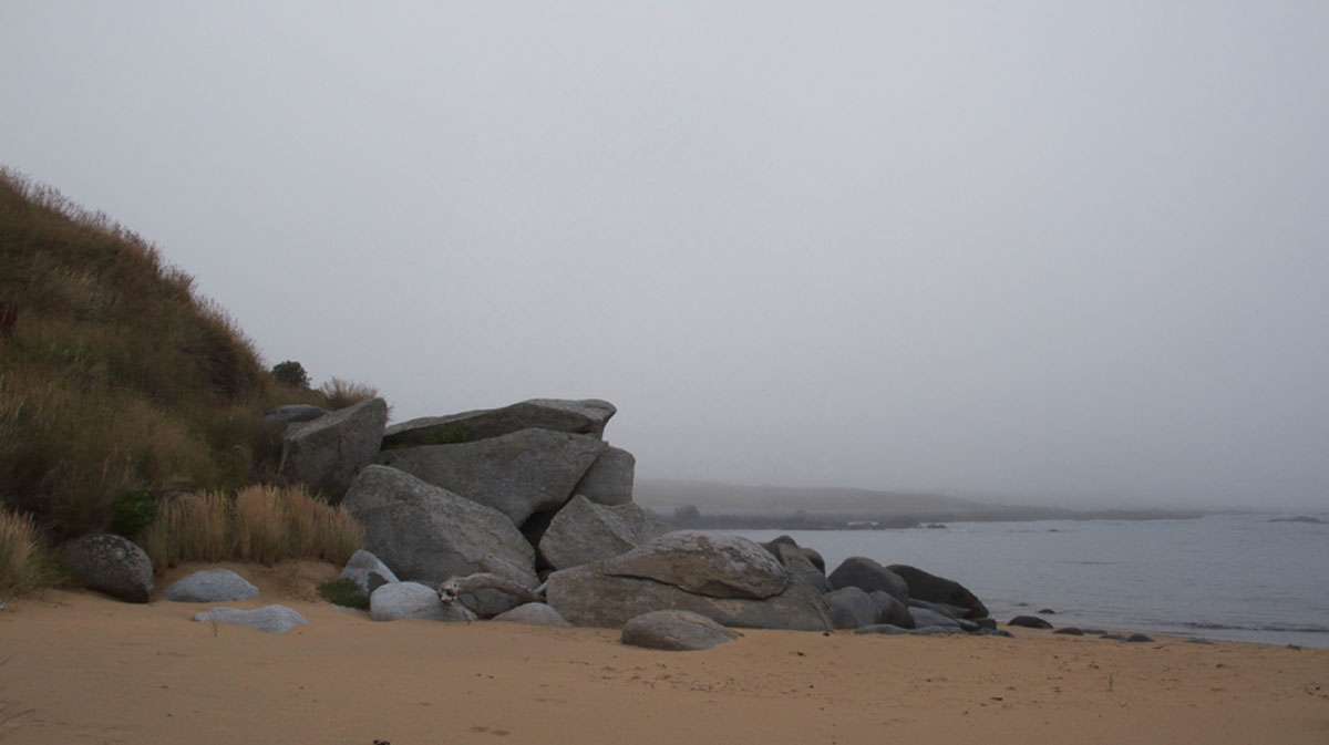 Rocks at eastern end of beach
