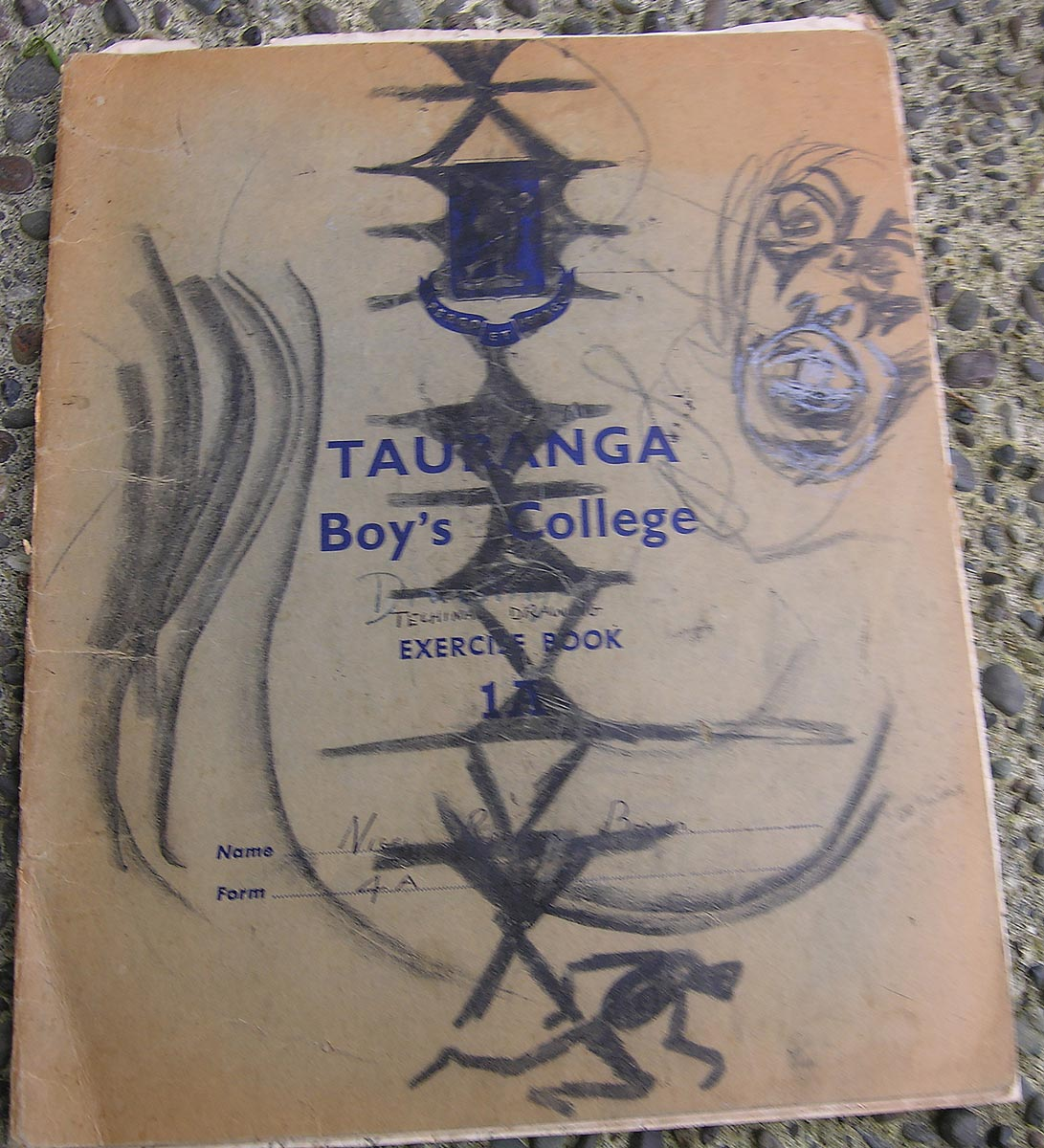 Tauranga Boys College sketch book